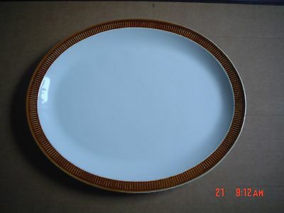 Poole Pottery White With Brown Edge Platter