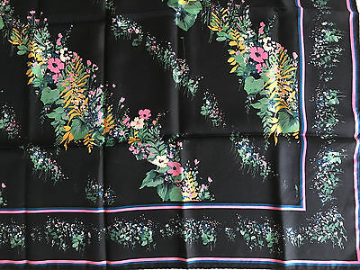 Vtg 60S -70S Pretty Colourful Floral Hand Rolled Silk Scarf