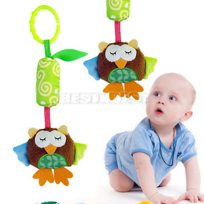 Baby Infant Crib Hanging Bell Cartoon Stroller Bed Car Plush Animal Toy Soft 1pc