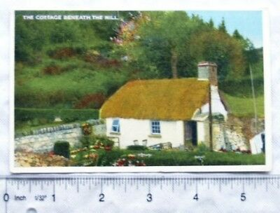 1956 postcard The Cottage Beneath the Hill, Ireland
