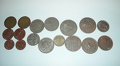 Pot Luck Mixed Lot Of 17 British And Foreign Coins (A)