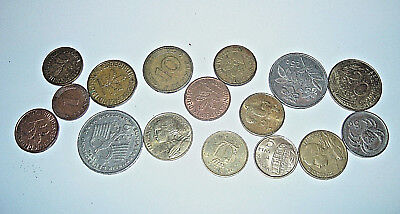 Pot Luck Mixed Lot Of 16 British And Foreign Coins (C)