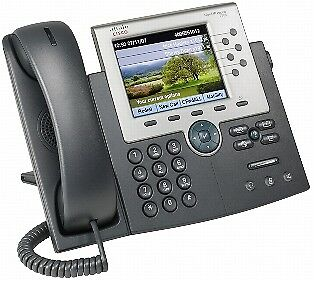 NEW! Cisco Unified 7965G Ip Phone Wall Mountable 6 X Total Line Voip 2 X Network