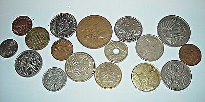Pot Luck Mixed Lot Of 17 British And Foreign Coins (E)
