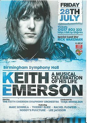 KEITH EMERSON TOUR 2017 UK CONCERT FLYERs x5