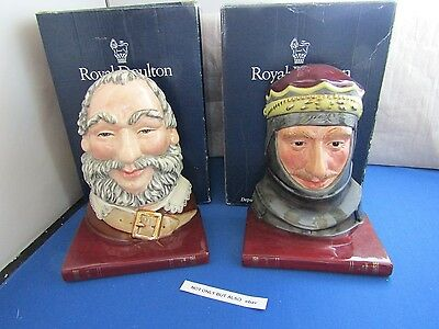 Henry V & Falstaff Pair of Bookends by Royal Doulton D7088 & D7089