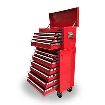 423 Tool Box Roller Cabinet Steel Chest 13 Drawers Gloss Red - Us Pro Tools