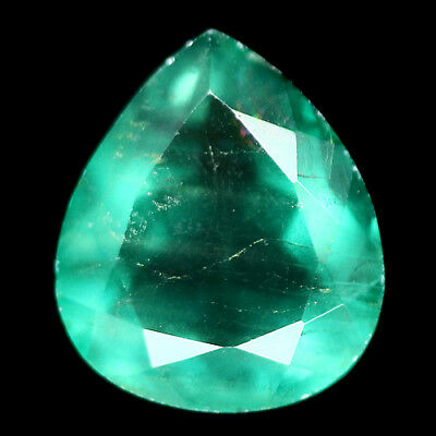 6.56 Ct Natural! Green Fluorite Pear China Gracefully