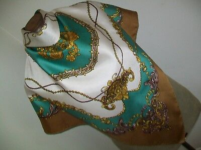 Elegant & Luxurious Classical Design Vintage Silk Scarf