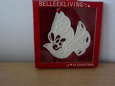 Belleek Living Dove/gems Christmas Tree Ornament - Bnib