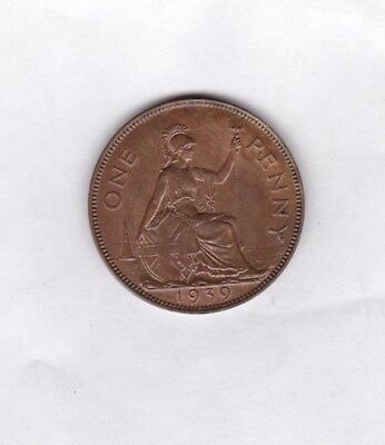 1939 George Vi Penny In Extremely Fine Or Slightly Better Condition