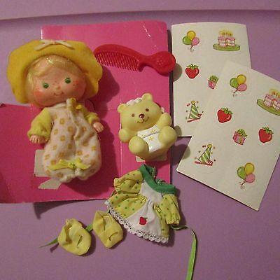 Butter Cookie + Jelly Bear + Accessories Vintage/new Strawberry Shortcake Doll