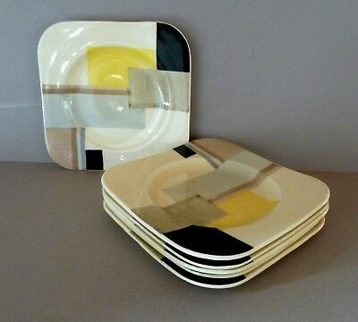 Set Vintage 1930 Art Deco Geometric Susie Cooper Pottery 6 Side Plates