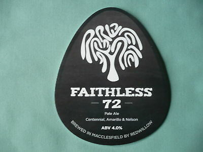 Redwillow Brewery Faithless 72 pump clip front