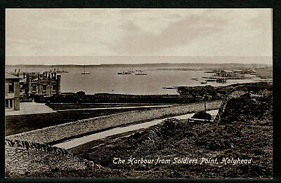 Postcard - The Harbour from Soldiers Point - Holyhead Anglesey Wales