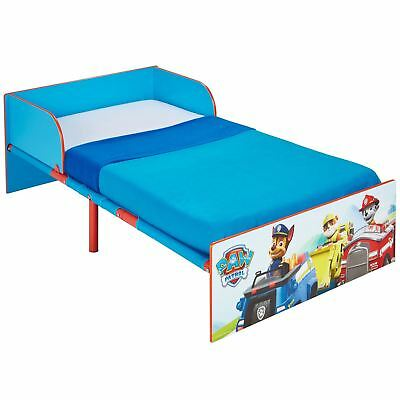 OFFICIAL PAW PATROL TODDLER BED WITH PROTECTIVE SIDE GUARDS BLUE - ex display