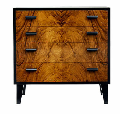 1950's SCANDINAVIAN ART DECO DESIGN SMALL CHEST OF DRAWERS