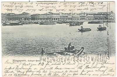 Singapore. Collyer Quay, early view