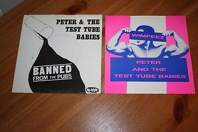 """Collection Of 5 -Peter And The Test Tube Babies 7"""" Singles - Listed And Graded"""