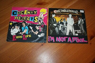 """Collection Of 9 -Cockney Rejects  7"""" Singles - Listed And Graded"""