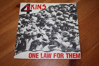 4 Skins - One Law For Them  -1981 - Uk Issue - Very Good