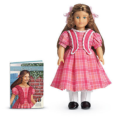 """American Girl MARIE GRACE MINI DOLL CLEAR COVER 6"""" in Box Retired Book NEW"""
