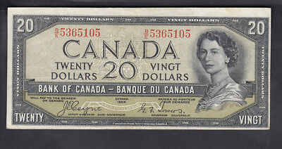 1954 Canada 20$ Dollars Bank Note Devil Face Coyne/towers