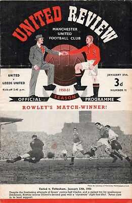 1950/51 NO.15 MANCHESTER UNITED V LEEDS UNITED FAC 4th ROUND TIE GOOD
