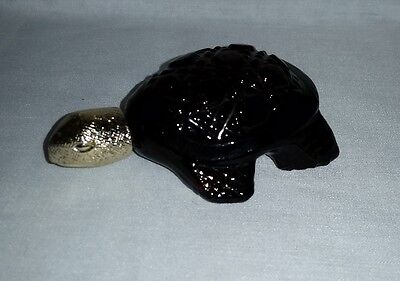 Small AVON bottle Turtle empty OCCUR Cologne 1 Fl Oz, 9 cm long