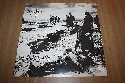 "Amebix - No Sanctuary - 12"" Ep -  Uk Issue  + Printed Inner - Very Good++"