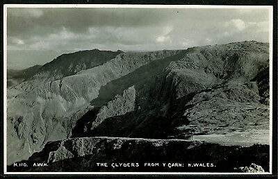 Real Postcard - The Glyders from Y Garn - Snowdonia North Wales
