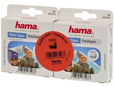 Hama 1000x Foto-Tapes selbstklebend Spender Fotokleber Fotoecken Photo-Tapes