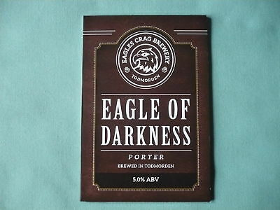 Eagles Crag Brewery Eagle Of Darkness pump clip front