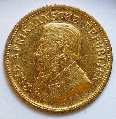 1894 SOUTH AFRICA Gold Kruger Half Pond - Series Minted 1892 to 1897
