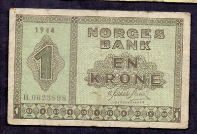 1 Krone From Norway 1944