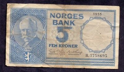 1 Krone From Norway 1955