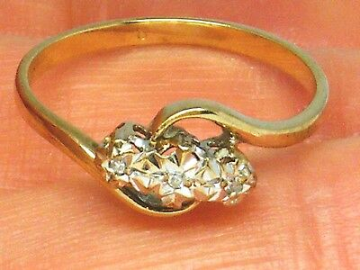 9CT Gold 9K Gold  Vintage Sapphire ring size O