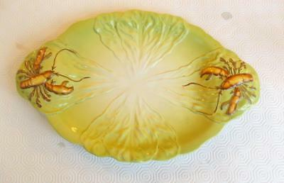 Vintage Carlton Ware Two Handled Large Dish Decorated Lobsters 35Cm Wide