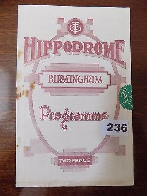 Hippodrome,Birmingham, VARIETY CONCERT with JACK HILTON & HIS BAND,  1934