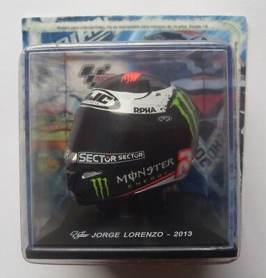 Jorge Lorenzo Mini-Helmet Year 2013 Boxed 1/5 Scale Moto Gp Monster