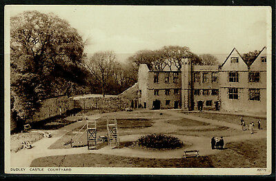 Early Postcard - Dudley Castle Courtyard - Staffordshire