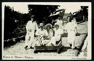 Early Real Photo Postcard - Carros do Monte - Madeira Portugal