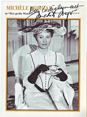 MICHELE MORGAN (Attrice francese). Autografo Originale-109