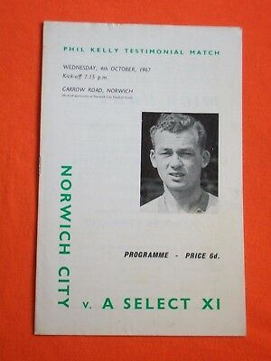 Norwich City v  Select X1,  Phil Kelly Testimonial   4th October 1967