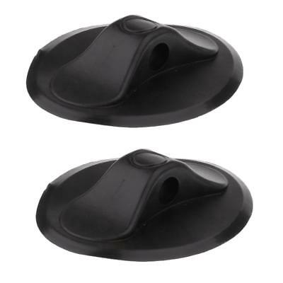 2x Black PVC Inflatable Boat Kayak Yacht Rope Buckle Deck Mount Single Hole