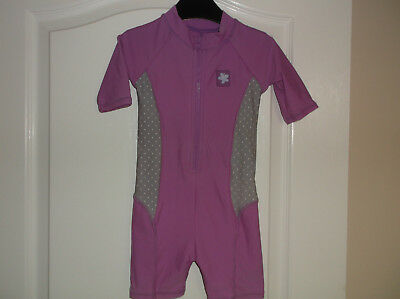 Girls UV Sun Protection Swimming Suit in Pink Age 6-9 Months