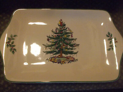 "Rare Spode Christmas Tree Mince Pie Serving Plate 12"" VGC Xmas Party Bargain BiN"