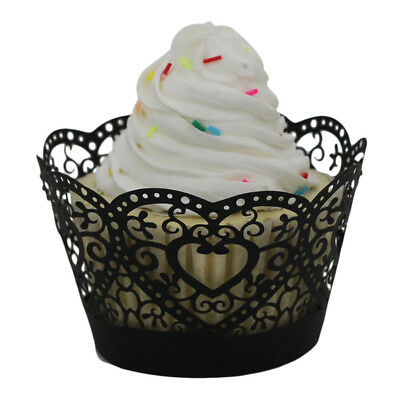 25pc Christmas Lace Laser Cut Cupcake Wrapper Liner Baking Cup Muffin