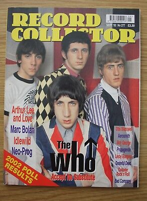 Record Collector Magazine No 277, The Who, Arthur Lee, Marc Bolan And More