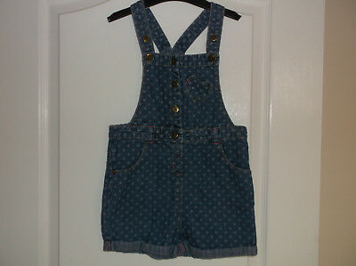 Girls Matalan Denim Short Dungarees Age 3-4 Years